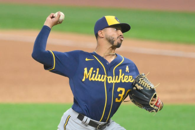 Brewers' reliever Devin Williams is the 2020 NL Rookie of the Year.