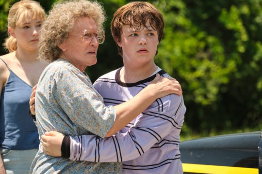 "Mamaw (Glenn Close, left) looks out for her grandson J.D. (Owen Asztalos) in Ron Howard's drama ""Hillbilly Elegy."""