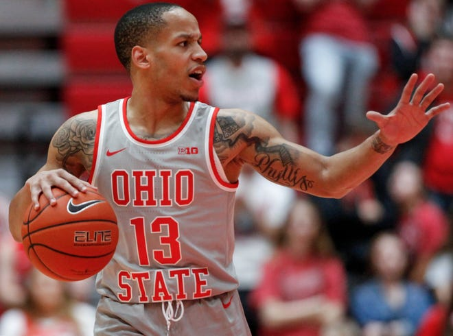 Ohio State Buckeyes guard CJ Walker (13) during the second half of the game between the Ohio State Buckeyes and the Kent State Golden Flashes at St. John Arena in Columbus, Ohio on Monday, Nov. 25, 2019. [Maddie Schroeder/Columbus Dispatch]