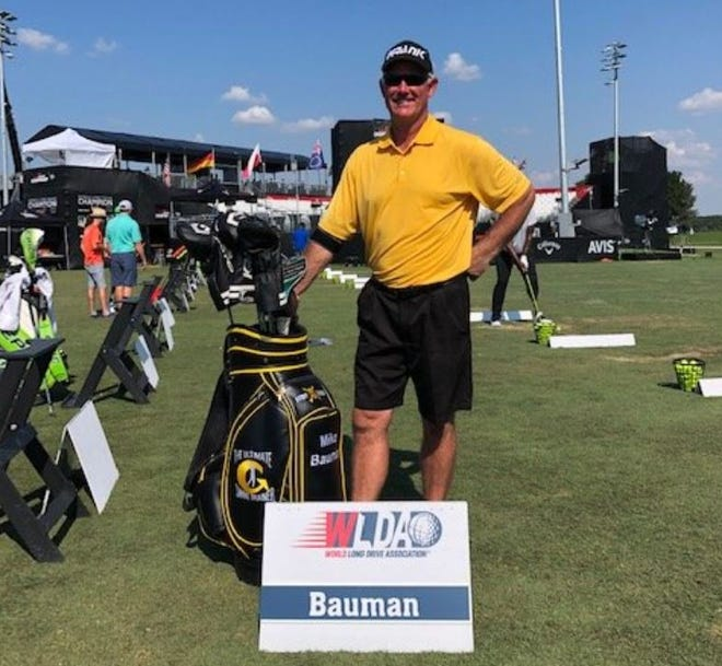 Mike Bauman is seen here at the 2019 World Long Drive Championships that were held in Oklahoma.