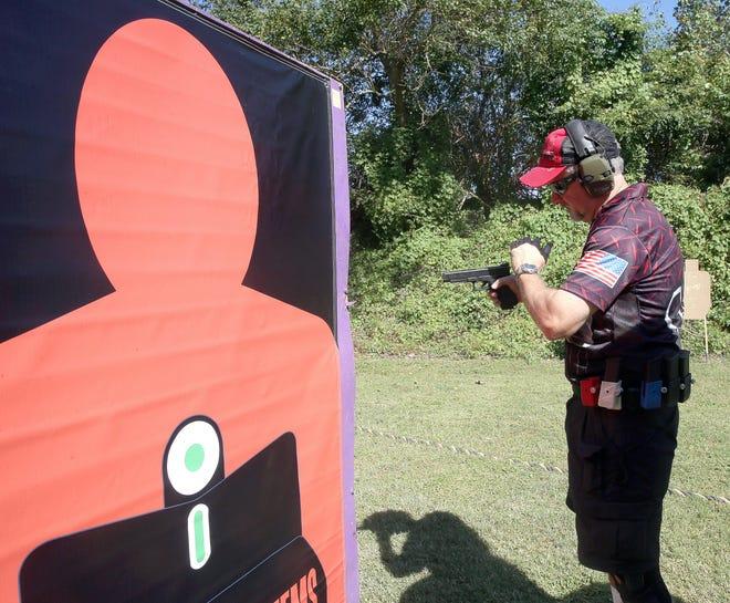 Handgun training.