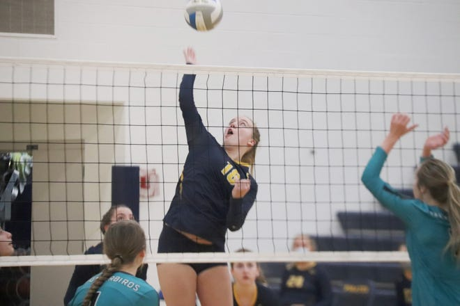 Junior Ally Perreault, playing in her first career varsity game Monday, had six kills, but Crookston fell to Mahnomen-Waubun in three sets.
