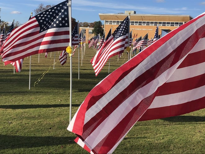 Over the weekend, 500 flags flew during the annual Field of Honor event beside South Asheboro Middle School.
