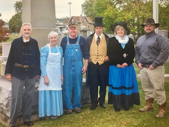 "The ""Coming Alive"" Cemetery Tour features local people who are interested in telling tales of history. Included are Greg Parks, Sue Ellen Johnson, Dave Adair, Rick Booth, Donna Hill, and Tracy Lingafelter."