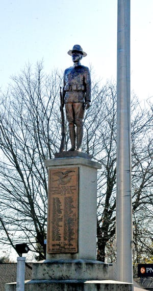 The Doughboy statue in Doylestown was first dedicated on Armistice Day in 1920. It will be rededicated on Wednesday for the 100th anniversary.