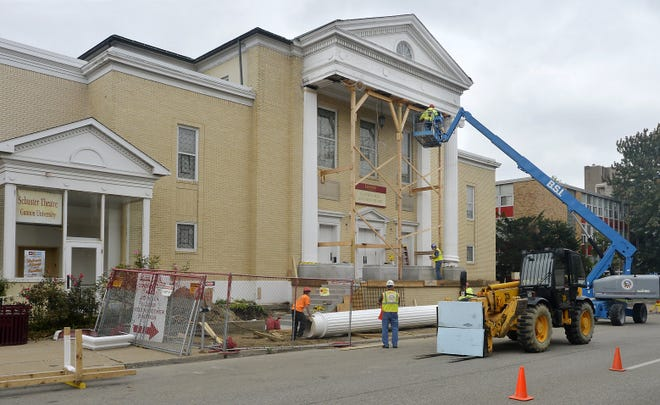 Gannon University's Schuster Theatre, 620 Sassafras St., is shown during renovations in October 2018.