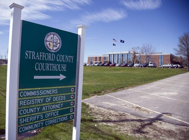 A Strafford County jury trial scheduled for this week was canceled due to rising COVID-19 infection rates and limited air circulation in the Dover courthouse, the chief justice of the New Hampshire Superior Court said Tuesday.