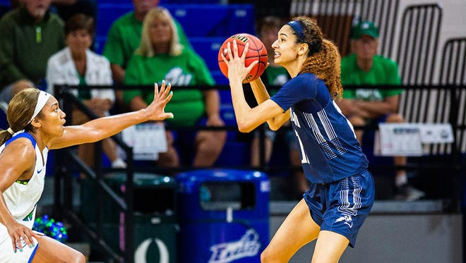 University of North Florida forward Jazz Bond (right) is the preseason ASun player of the year and defensive player of the year.