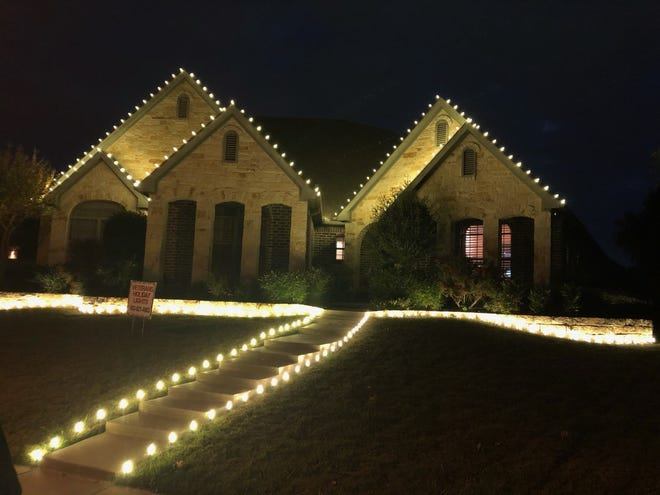An example of the holiday lighting done by Veterans Holiday Lights