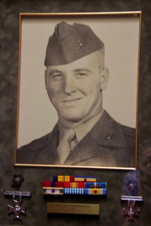 Lee Pennington of Lubbock enlisted in the U.S. Marine Corps, serving his country during the Korean War.