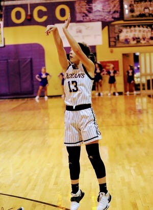 Anacoco's Bella Henry scored a career-high 22 to lead the Lady Indians to a huge victory over Holden, 84-17.
