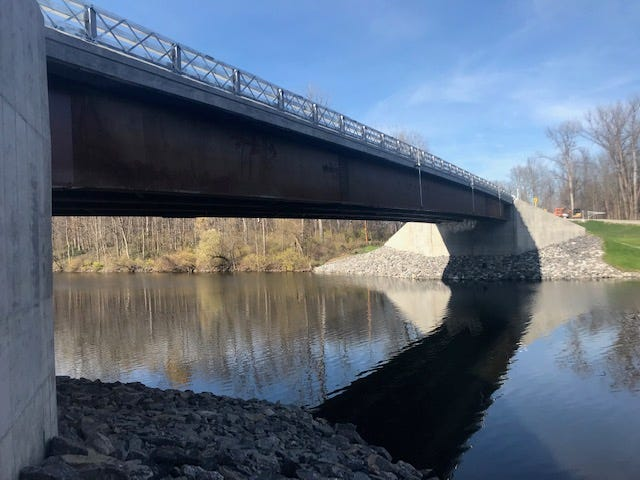 A replacement for the Higginsville Road Bridge in Verona has been completed, state officials announced Tuesday.