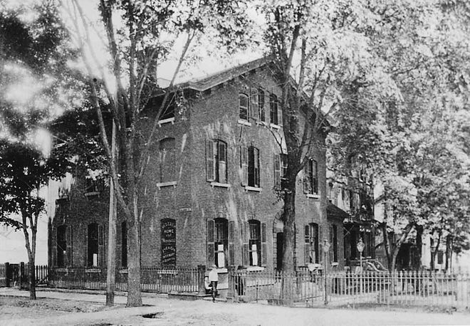 In 1867, the Rev. Edwin M. Van Deusen, rector of Grace Episcopal Church in downtown Utica, began a drive to establish a Home for Aged Women.  Truman K. Butler, a vestryman at Grace Church in the 1840s, donated a house at Columbia and Hamilton streets in West Utica and in 1869, St. Luke's Home opened. In 1872, a building adjoining the home was purchased for a hospital and thus was born St. Luke's Home and Hospital (shown here in 1890). In 1904, Rachel and Frederick Proctor built and furnished a new St. Luke's Hospital at 1506 Whitesboro St. In 1950, it merged with Utica's Memorial Hospital and in 1957, the St. Luke's-Memorial Hospital Center was on Champlin Avenue. Today, the St. Luke's Campus is part of the Mohawk Valley Health System.