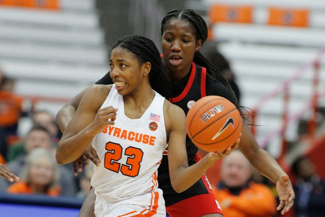 Kiara Lewis led the Syracuse women's basketball team in scoring last season. She is set to return to a Syracuse team that is ranked No. 23.