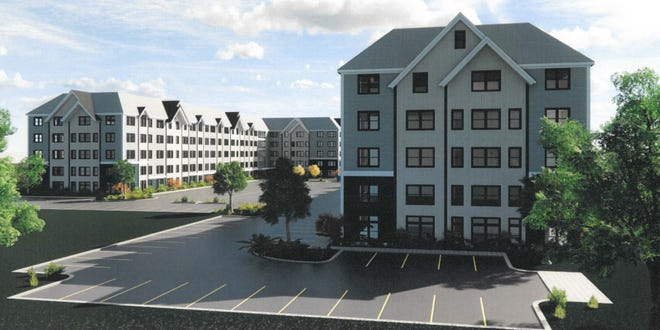 Renderings of the proposed Shingle Mill 40B development in Rockland slated for 0 Pond Street.