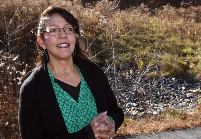Land developer Candid Arcidy talks about her longtime wish to donate a parcel of land on Richards Way in Farmington to a veteran with disabilities.