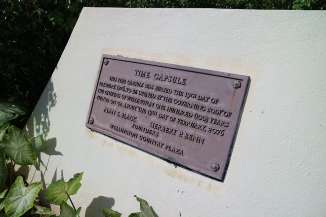 A time capsule was buried in 1976 in the Country Plaza in Wellington.
