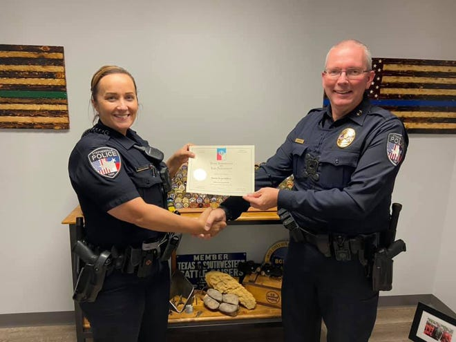Stephenville Police officer Paula Mays received her Master Peace Officer certificate recently. The certification requires hundreds of training hours and many years of work to achieve. It is the highest certification available in the State of Texas.