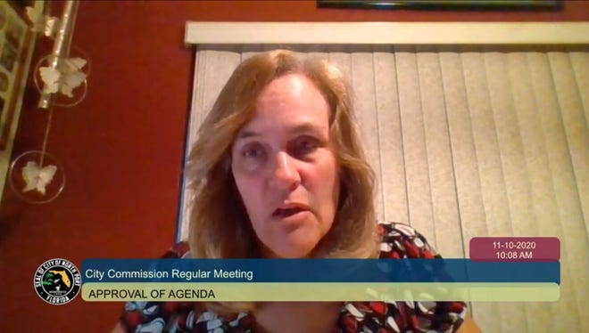 North Port Mayor Debbie McDowell attended the City Commission meeting virtually on Tuesday because of possible exposure to COVID-19.