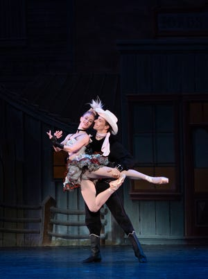 "Katelyn May and Ricki Bertoni reprise an earlier performance of part of George Balanchine's ""Western Symphony"" for The Sarasota Ballet's second digital program."