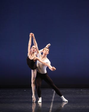 "Ellen Overstreet and Daniel Pratt perform part of George Balanchine's ""The Four Temperaments,"" which they first danced together eight years ago, for the Sarasota Ballet's second digital program."