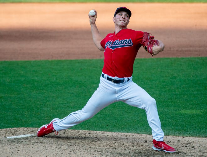 Valley Central graduate James Karinchak earned five third-place votes and finished sixth for American League rookie of the year award. PHIL LONG/AP
