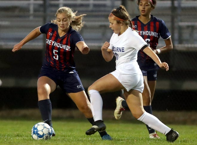 Freshman forward Ava Schiff, left, led the Grove City girls soccer team in scoring with 13 goals and three assists. She was named first-team all-league and third-team all-district after helping the Greyhounds post their fourth consecutive winning season.