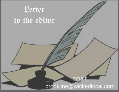 Letters to the Editor graphic for Brookline