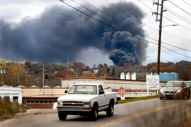 Fire departments throughout Buncombe County were called to the scene of a warehouse fire at the Metropolitan Sewage District in Woodfin November 10, 2020.