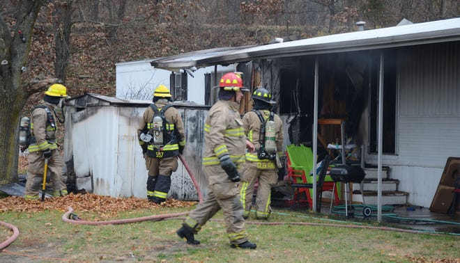 Firefighters were called to a house fire Tuesday at Bedford Hills.