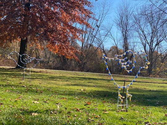 One of the numerous displays that will be lit in Otsiningo Park for the Festivals of Lights.