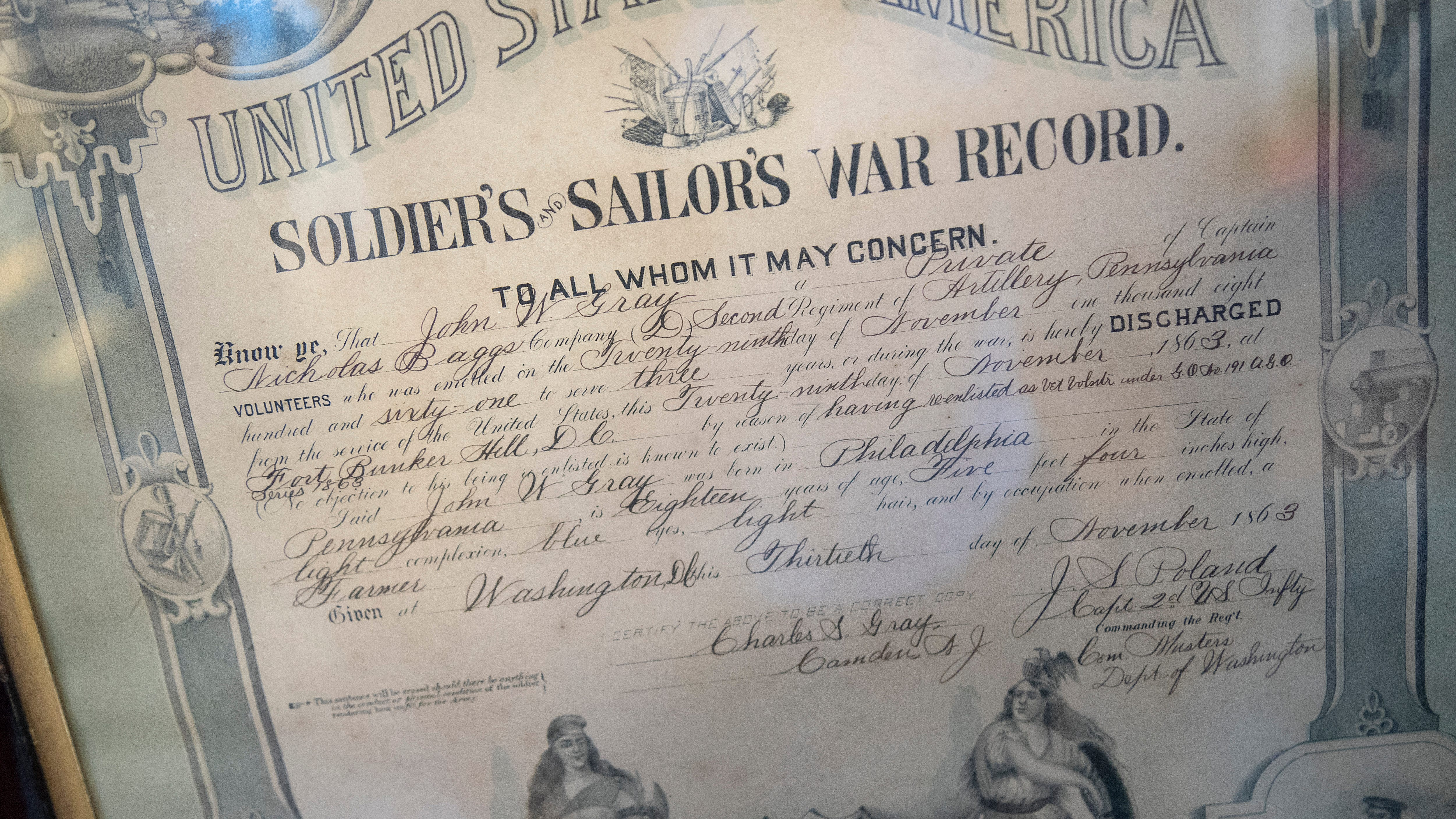 The Civil War record of John W. Gray, the great -great grandfather of John Gray of Fort Myers Beach.