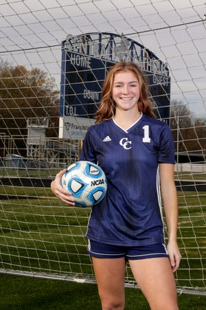 Central Catholic's Karsyn Cherry is the 2020 Journal & Courier Player of the Year for Girls Soccer.