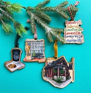 If you are looking for handmade Christmas ornaments you can find them at Revelry Boutique & Gallery Winter Wonderland