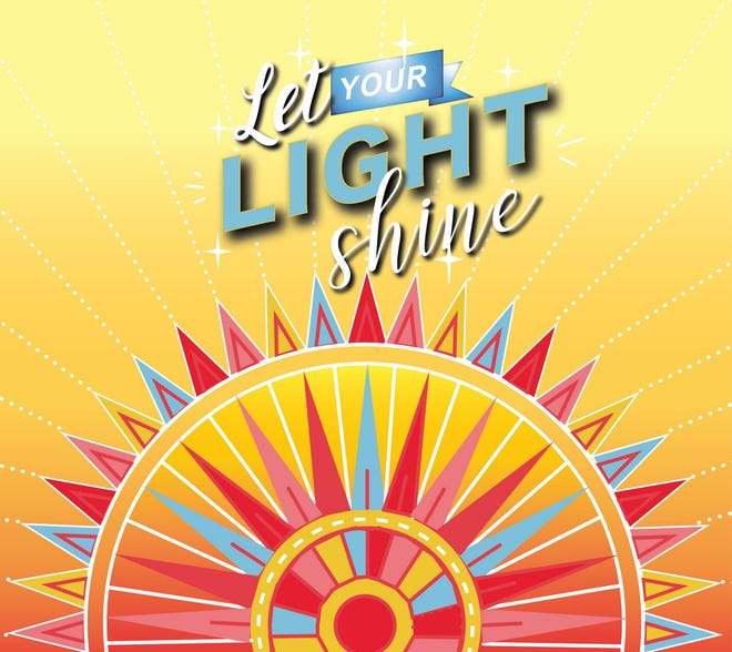 The proposed rendering of the 'Let Your Light Shine' mural, slated for creation in downtown Franklin.