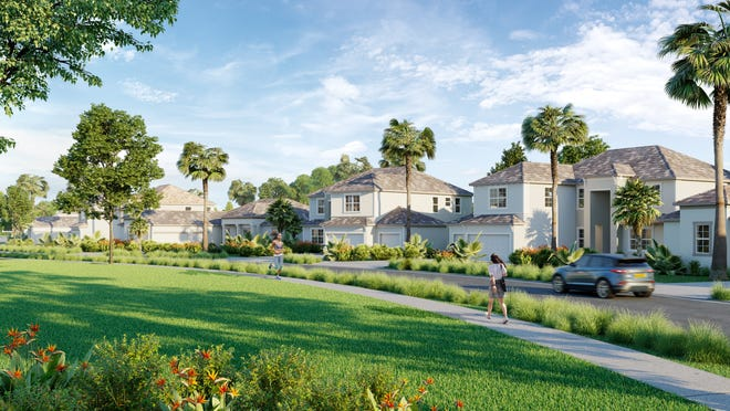 Home sales were reported from the four residential builders in Ave Maria including Lennar's National Golf & Country Club (shown).