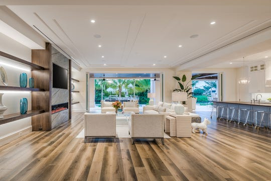 Clive Daniel Home's Interior Design team of Susan Trivison and Chantal Warmoth have completed furniture installation in  five bedroom/eight bath, 7,019 sq ft. developer spec home located at 3320 Rum Row.
