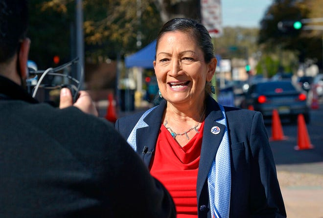 The transition team for President-elect Joe Biden is vetting U.S. Rep. Deb Haaland, D-N.M., for secretary of the Interior Department. Here, Haaland is pictured in a Nov. 3, 2020, AP file photo.
