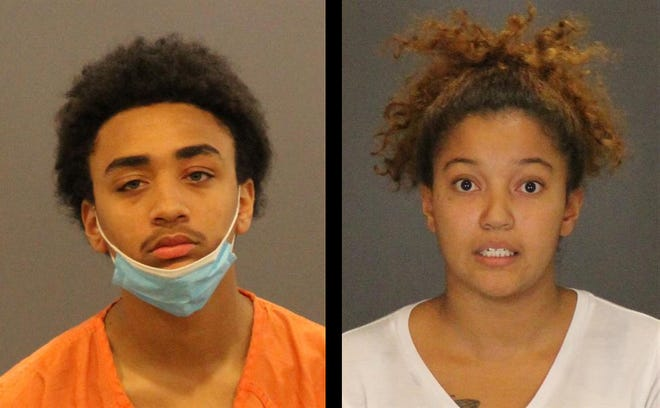 Damarion Taylor, 17, left, and Vohnda Edwards, 21, were arraigned on charges related to an armed robbery that occurred Nov. 5 in Port Huron. Port Huron Police are still looking for two other Port Huron residents, a 17-year-old male and an 18-year-old male.
