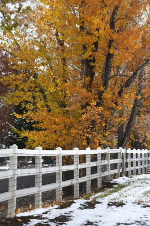 Images of the autumn snow fall in the Reno Sparks area.