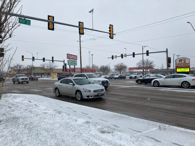 Snow conditions on 41st Street and Minnesota Avenue on Tuesday