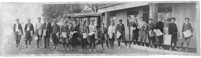 Undated photo of El Paso Morning Times newsboys.