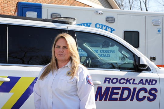 Lieutenant Bernadette Frae of West Nyack, a Rockland Paramedic out of the Medic 3 Clarkstown Station in New City, Nov. 10, 2020.