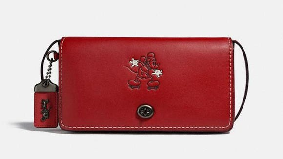 Gifts for Disney lovers: Coach x Disney leather Dinky bag