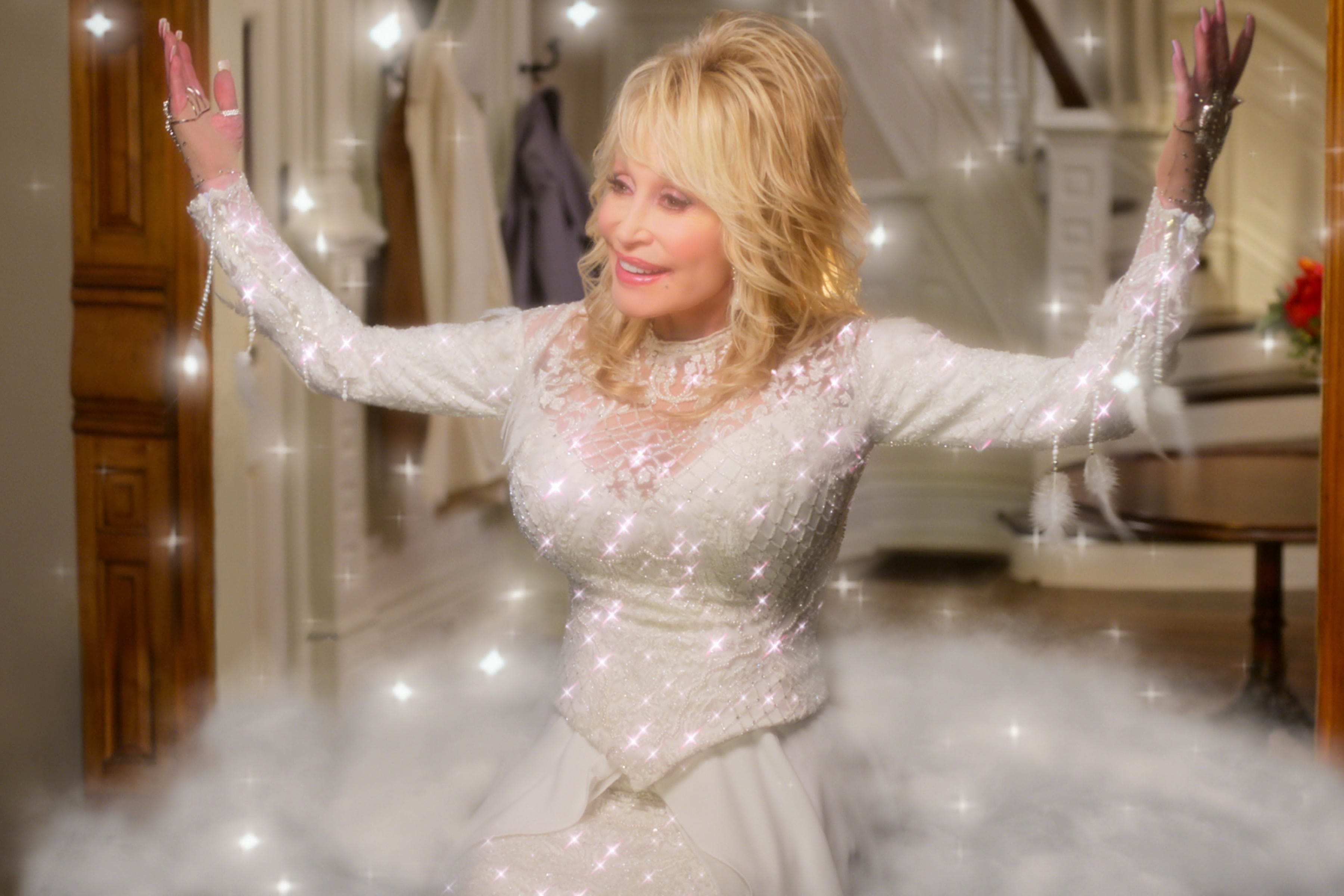 Dolly Parton on her holiday movie musical,  Christmas on the Square :  We need some joy