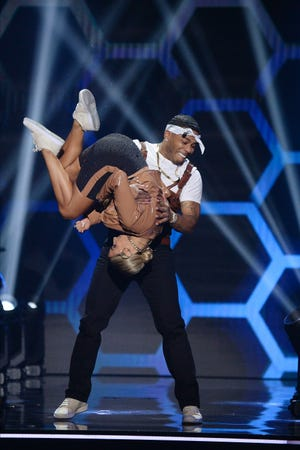 Nelly flipped and then he flipped partner Daniella Karagach in their Tupac dance.