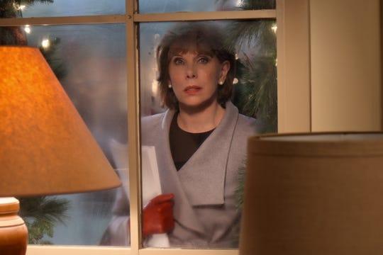 "Christine Baranski as Regina on ""Christmas on the Square."""