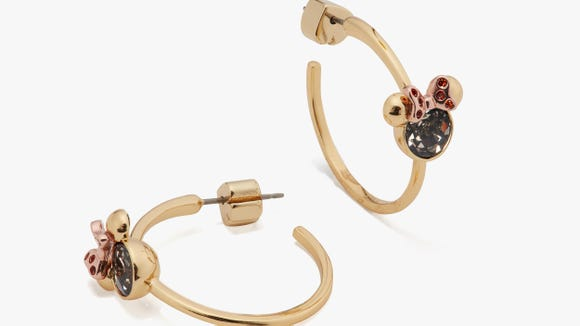 Gifts for Disney Lovers: Kate Spade New York x Minnie Mouse stone hoops