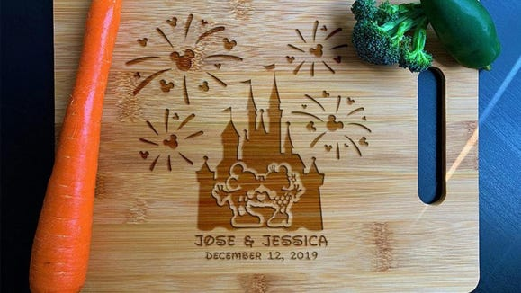Gifts for Disney lovers: Disney-inspired cutting board