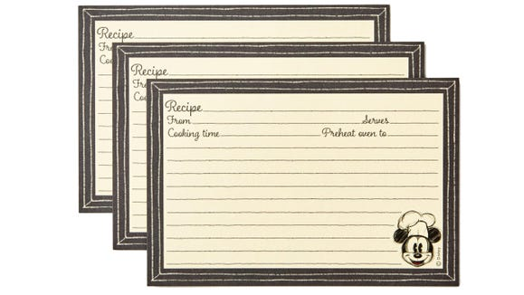 Gifts for Disney lovers: Recipe refill cards